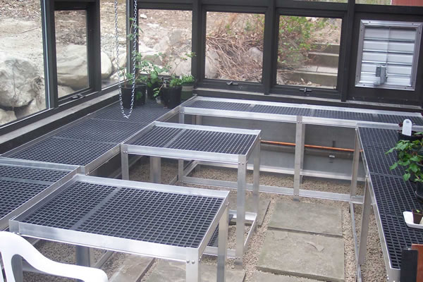 Fixed Greenhouse Bench