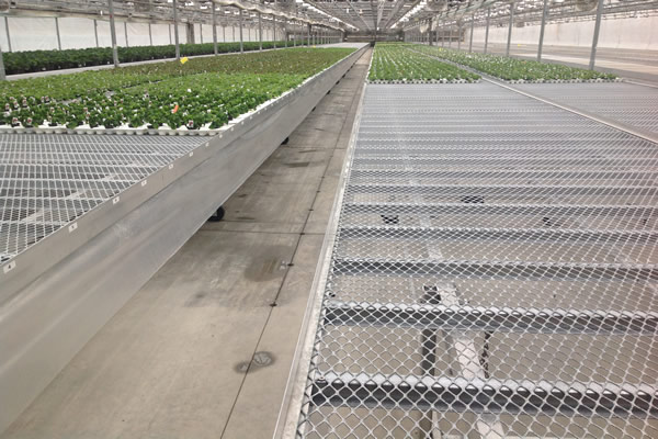Fixed greenhouse bench chenchao wire mesh