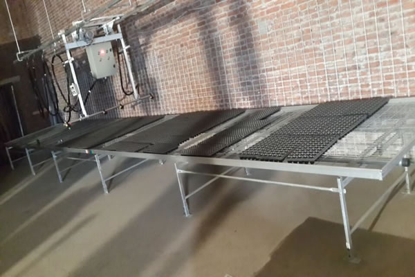 Greenhouse Potting Bench Chenchao Wire Mesh